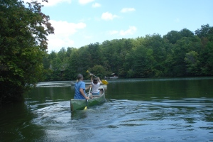 Me and Belle Canoeing